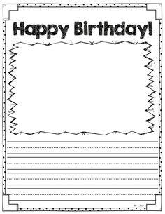 Celebrating Birthdays at School #FREEBIE