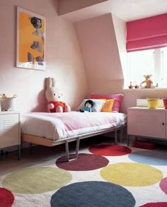 Go bold! #nursery #rug