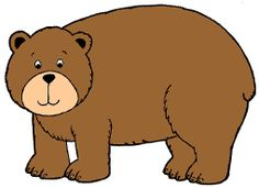 Brown Bear coloring pages, flannel board printables