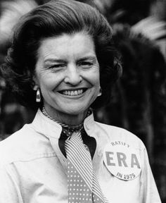 Betty Ford not only founded the Betty Ford Center for substance abuse patients, but was a champion of women's rights, and was a staunch supporter of the proposed Equal Rights Act, passing Roe V. Wade, and of sharing her own struggles with addiction and breast cancer. She used her position as First Lady to show other women that breast cancer was nothing to be ashamed of, and after she discussed her diagnosis, the reported cases of breast cancer skyrocketed. She was a powerful force for good.