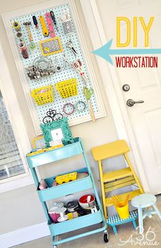 Craft Room Workstation and Organization Tips