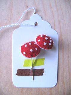 Mushroom pins by Ottoman: ... like this tag...