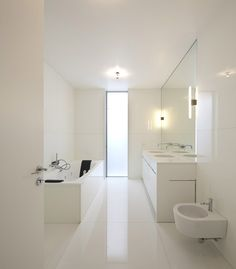 white floors and walls!