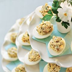 Lemon-Dill Chicken Salad-Stuffed Eggs: