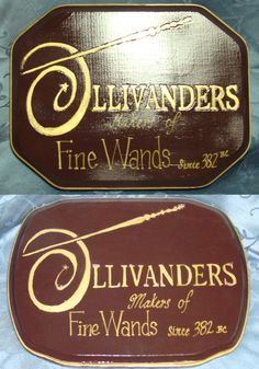 Handcrafted Harry Potter OLLIVANDERS WAND Shop Wooden Sign. $39.99, via Etsy. Oh yeah!!!