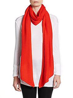 Saks Fifth Avenue GRAY - Angled-Hem Merino Wool Scarf