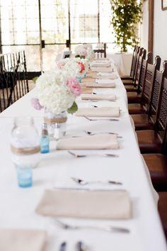 Sweet + California-style table decor | Santa Barbara Sunset Cruise Wedding | MoHa Photography