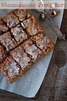 Macadamia and fruit slice #recipe