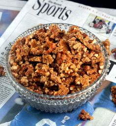 Malted Pretzel Crunch aka Snack Crack.  I had to make 5 pans of this one football Sunday!