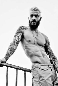 — Mateus Verdelho beards, style, omar macchiavelli, sleeve tattoos, men, mateus verdelho, boy, sleeves, ink