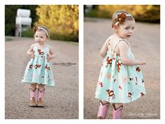 Hummingbird Dress girls' summer dress by RabbitRabbitCreation