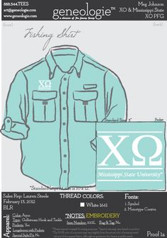 Chi Omega button up