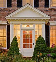 Enclosed portico