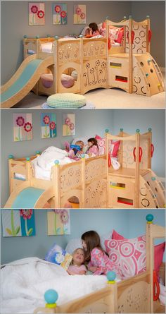 Sleep and Play Beds for Kids --incredible... If only .... #KidsBeds #bedroom kids beds kids bedroom inspiration amazing creations