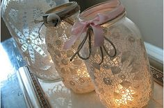 Mason Jars with Lace media-cache4