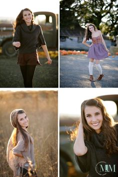 Fall Senior girls senior picture outfits, pumpkin, country girls, dresses, art, fall portraits, senior portraits, cowboy hats, country look