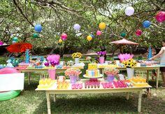 festa de aniversário no verão