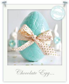Hand-made chocolate egg