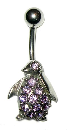 Penguin Belly Button Ring