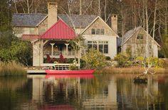 lake houses, exterior idea, dream homes, beauti place, lakesid