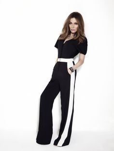 Black and white jumpsuit  Despina Vandi for chip and chip