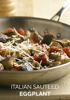 Cut down on dinner dishes tonight with this Italian Sautéed Eggplant recipe—prepared in a single skillet in just 25 minutes!  Use FF Parmesan.