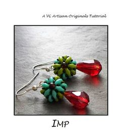 Mini Beaded Bead Tutorial Bead Pattern by VCArtisanOriginals, $3.00