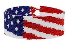Free Spangled Banner Bracelet Pattern from FusionBeads.com featured in Bead-Patterns.com