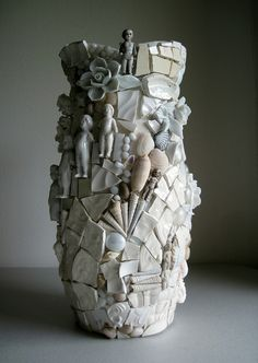 WIP - pique assiette vase by Rush Creek, via Flickr