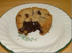 Heard of lava cakes?  How about lava chocolate chip cookies?!