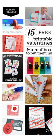 15 Free printable Valentines - super cute ideas for this year's classroom Valentines... think we're going to hand out #8!