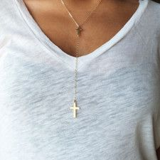 Open Sky - check it out! LIke this Double Cross necklace