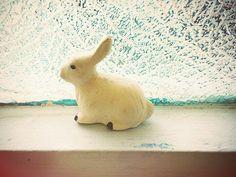 Ceramic white bunny
