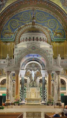 Cathedral Basilica of Saint Louis, in Saint Louis, Missouri, USA - large view of high altar 4 by msabeln, via Flickr