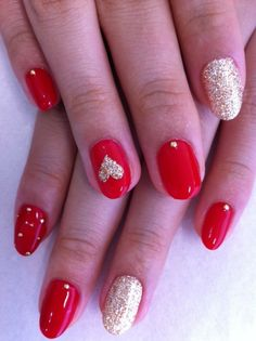 Valentines day nail idea