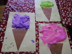 Mrs. Goff's Pre-K Tales: Messy Fun...glue, shaving cream , food color for 3D
