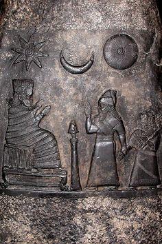 Mesopotamia.  Sun Moon Stars