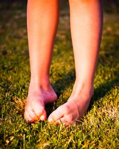 Running through the grass with bare feet always gave me such a sense of freedom growing up.