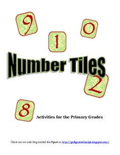 This FREE Number Tiles resource is a ten page booklet containing six different math problem solving activities for the primary grades. The activiti...