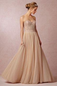 dream blush pink lace bodice wedding dress