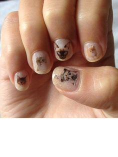DIY nail decals.