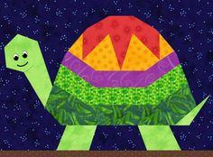 Turtle Paper Pieced Quilt Block