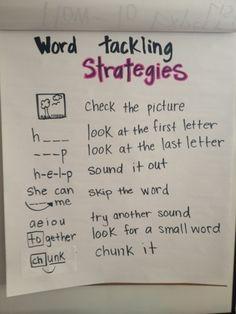 Primarily Primary: Word Tackling Strategies