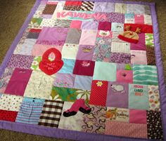 Ideas for baby clothes quilts