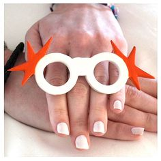 Sunglasses Ring Ceramic Jerseylicious big bold by StudioLeanne, $35.00