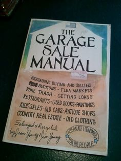 I should buy this 1970s GARAGE SALE How to  Great Illustrations by JackalopeTrading, $14.99