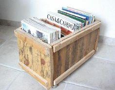 caja madera revistero