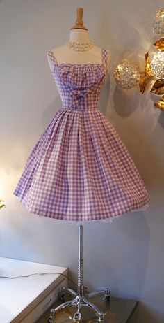 1950's So Cute Gingham Dress