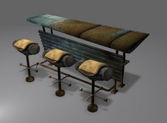 Wing Bar and Tire Stools