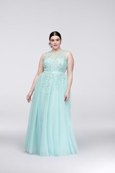 Illusion Bodice Teal